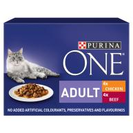 Purina ONE Chicken & Beef Mini Fillets In Gravy Adult Cat Food