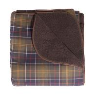 Barbour Dog Blanket in Classic Tartan & Brown