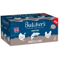 Butchers Joints & Coat Dog Food Tins 390g x 6