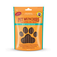 Pet Munchies Natural Beef Liver Stick Dog Treats 90g