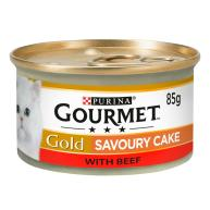Gourmet Gold Savoury Cake Beef Adult Wet Cat Food 85g x 12