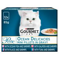 Gourmet Perle Ocean Delicacies Cat Food 85g x 12