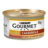 Gourmet Gold Turkey & Duck Casserole Cat Food 85g x 12