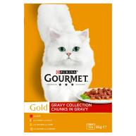 Gourmet Gold Gravy Collection Cat Food 85g x 8