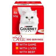 Gourmet Mon Petit Meat Pouches Adult Cat Food