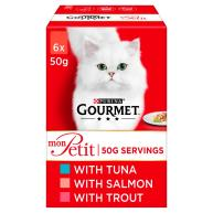 Gourmet Mon Petit Fish Pouches Adult Cat Food