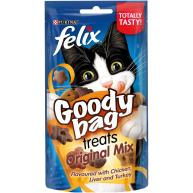 Felix Goody Bag Cat Treats Original Mix 60g - 8 Pack Saver Deal