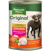 Natures Menu Chicken & Salmon with Veg Adult Dog Food Cans