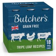 Butchers Tripe Loaf Recipes Dog Food Tins 400g x 18