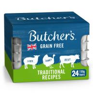 Butchers Traditional Recipes Dog Food Trays 150g x 24