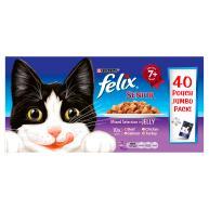 Felix Senior Variety in Jelly Cat Food