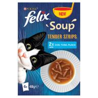 Felix Soup Tender Strips Fish Selection Cat Food 48g x 6 Soups