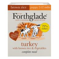 Forthglade Complete Turkey with Brown Rice & Veg Puppy Food 395g x 18