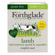 Forthglade Complete Grain Free Lamb Butternut Squash Veg & Adult Dog Food 395g x 18