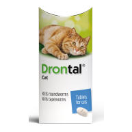 Drontal Worming Tablets for Small & Medium Cats Under 4kg 1 tablet NFA-C