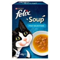 Felix Fish Selection Soup Wet Cat Food 48g x 6