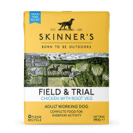 Skinners Field & Trial Chicken & Root Veg Wet Adult Dog Food 390g x 18