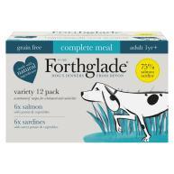 Forthglade Complete Salmon & Sardine Fish Variety Pack Adult Wet Dog Food