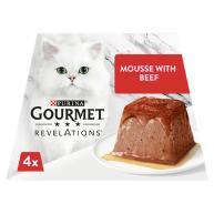 Gourmet Revelations Beef in Gravy Wet Cat Food 57g x 4