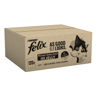 Felix As Good As It Looks 1+ Mixed Selection in Jelly Cat Food 100g x 120