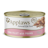 Applaws Natural Tuna Fillet with Prawn in Broth Wet Adult Cat Food