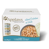 Applaws Natural Mixed Selection in Broth Wet Adult Cat Food 70g x 12