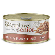 Applaws Natural Tuna with Salmon in Jelly Wet Senior Cat Food 70g x 24