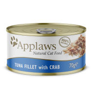 Applaws Natural Tuna with Crab in Broth Wet Adult Cat Food
