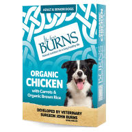 Burns Organic Chicken with Carrots & Brown Rice Wet Adult & Senior Dog Food  150g x 12