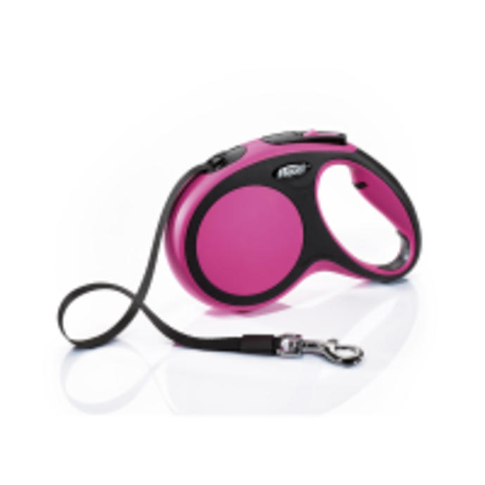 Flexi New Comfort 5m Tape Dog Lead in Pink