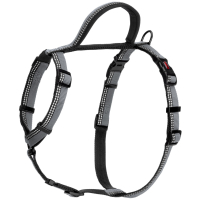 Halti Reflective Walking Harness Black & Grey