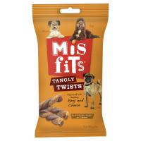 Misfits Tangly Twists Beef & Cheese Dog Treats