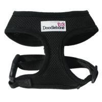 Doodlebone Mesh Dog Harness in Black