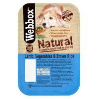 Webbox Natural Trays Lamb Veg & Brown Rice Adult Dog Food