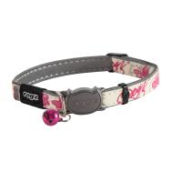 Rogz GlowCat White & Pink Reflective Collar