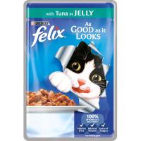Felix As Good As It Looks Tuna In Jelly Cat Food