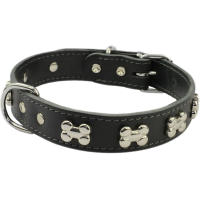 Earthbound Black Bone Dog Collar