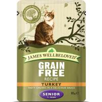 James Wellbeloved Grain Free Turkey Senior Cat Pouches