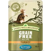 James Wellbeloved Grain Free Turkey Kitten Pouches