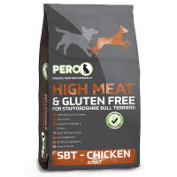 Pero High Meat & Gluten Free Staffordshire Bull Terrier Adult Dog Food