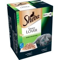 Sheba Sauce Lover Mixed Collection Adult Cat Food Trays
