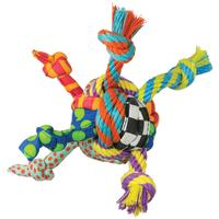 Petstages Rag Rope Ball Dog Toy