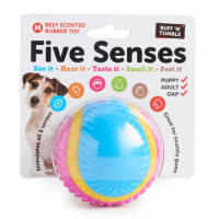 Sharples Pet Five Senses Beef Scented Rubber Dog Toy