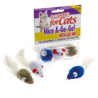 Classic Furry Fluffy Mice Cat Toys
