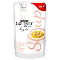 Gourmet Crystal Soup Salmon & Vegetable Adult Cat Food