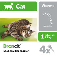 Droncit Spot On Wormer for Cats