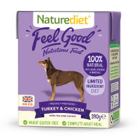 Naturediet Feel Good Turkey & Chicken Wet Adult Dog Food Cartons