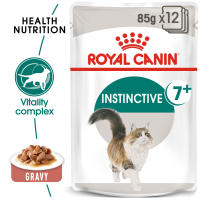 Royal Canin Instinctive Adult 7+ In Gravy Wet Cat Food Pouches