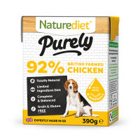 Naturediet Purely British Farmed Chicken Wet Adult Dog Food Cartons