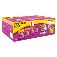 WHISKAS Bulk Saver Packs Wet Cat Food